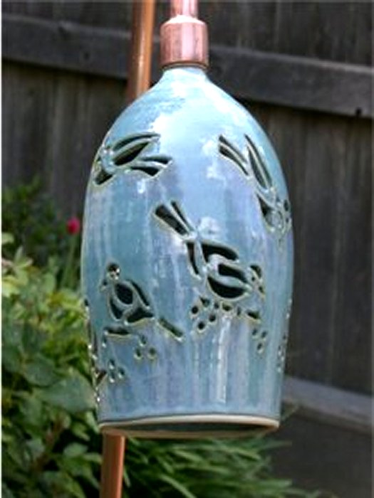 Blue Birds Garden Lamp